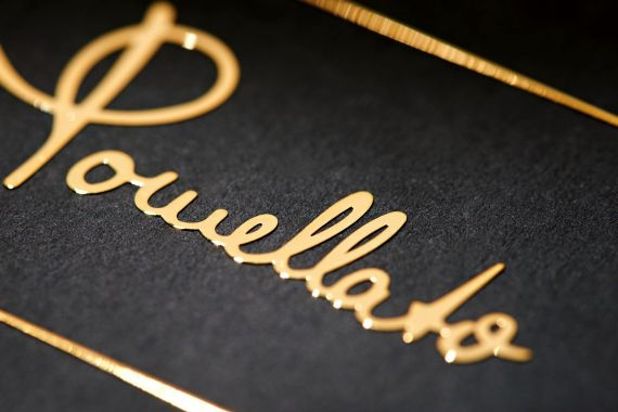 custom gold logo of poweletto
