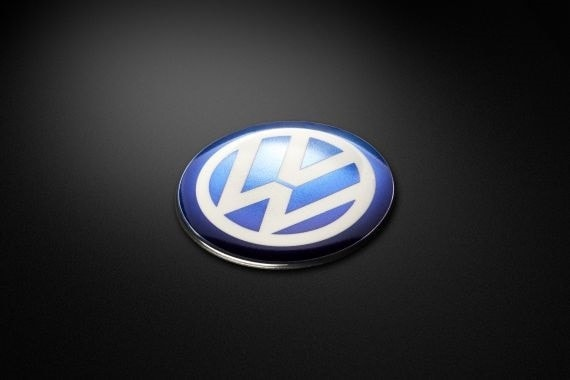 3D custom metal badge of volkswagen in blue & white