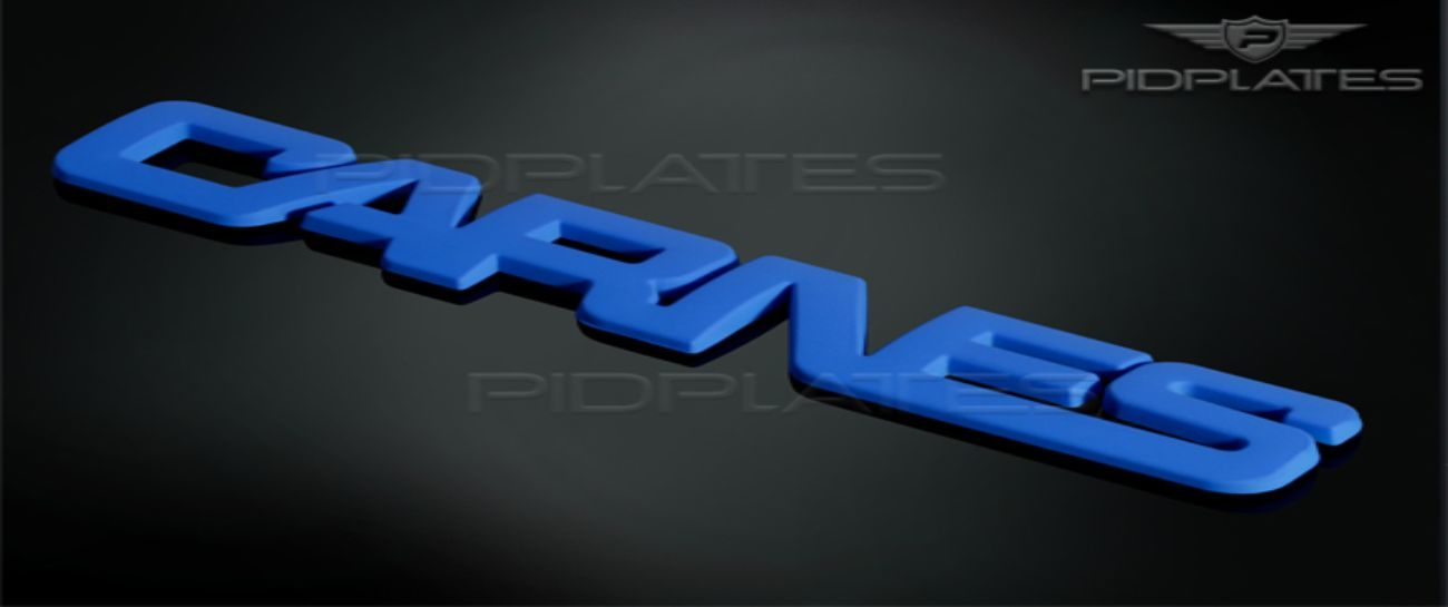 Custom Made 3D Emblem Logo of Carnes in Blue